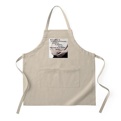 Midwife, Midwifery apron to take to births, or to