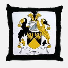 Shute Family Crest Throw Pillow
