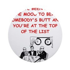 card player joke Ornament (Round)