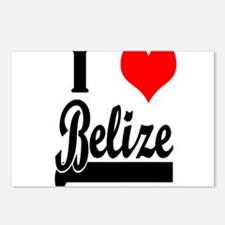 I Love Belize Postcards (Package of 8)