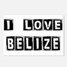 I Block Love Belize Postcards (Package of 8)