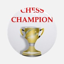 chess joke Ornament (Round)