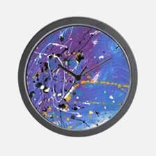 Blue Pollock-Style Wall Clock