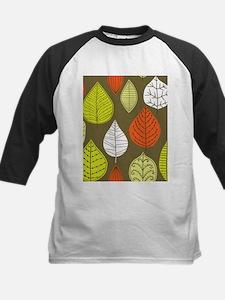 Leaves on Green Mid Century Modern Baseball Jersey