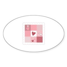 Heart Patchwork Decal