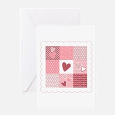 Heart Patchwork Greeting Cards