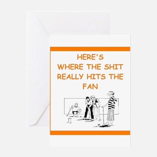 croquet joke Greeting Cards