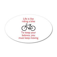 Life Is Like Riding A Bike Wall Decal