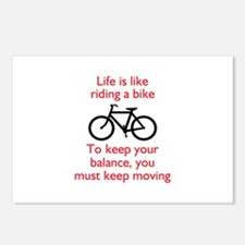 Life Is Like Riding A Bike Postcards (Package of 8