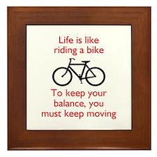 Life Is Like Riding A Bike Framed Tile