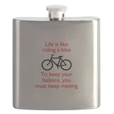 Life Is Like Riding A Bike Flask