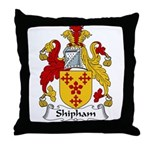 Shipham Family Crest Throw Pillow