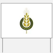 Vegan Grain Yard Sign