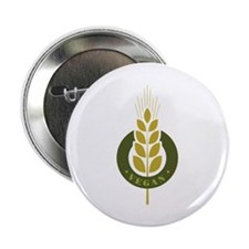 "Vegan Grain 2.25"" Button (10 pack)"
