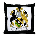 Shiers Family Crest Throw Pillow