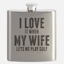 When My Wife Lets Me Play Golf Flask