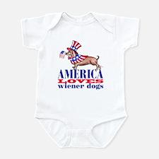America loves wiener dogs Infant Bodysuit
