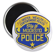 "Modesto Police 2.25"" Magnet (100 pack)"