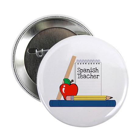 """Spanish Teacher (Notebook) 2.25"""" Button (10 pack)"""