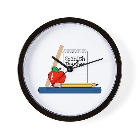 Spanish Teacher (Notebook) Wall Clock