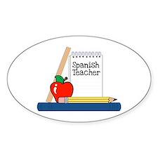 Spanish Teacher (Notebook) Oval Decal