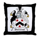 Sherwood Family Crest Throw Pillow