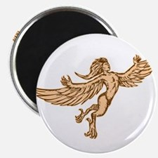 Harpy Flying Front Etching Magnets