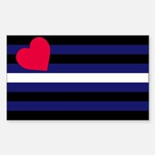 Leather Pride Flag Sticker (Rectangle)