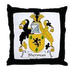 Sherman Family Crest Throw Pillow