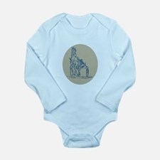 Horse and Jockey Harness Racing Etching Body Suit