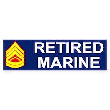 USMC Retired <BR>Gunnery Sergeant Bumpersticker