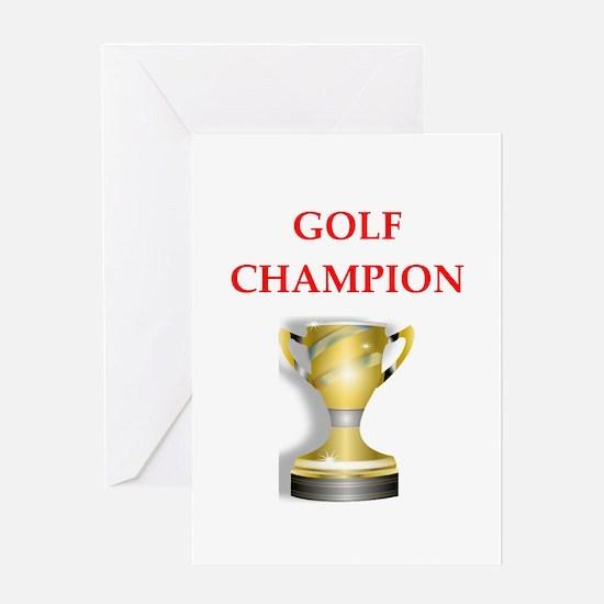 golfing joke Greeting Cards