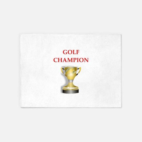 golfing joke 5'x7'Area Rug