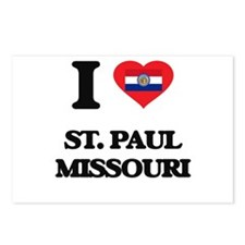 I love St. Paul Missouri Postcards (Package of 8)