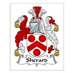 Sherard Family Crest Small Poster