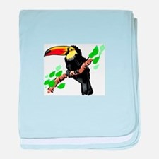 Toucan baby blanket