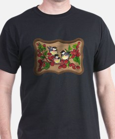 chickadees and berries T-Shirt
