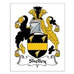 Shelley Family Crest Small Poster