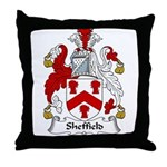 Sheffield Family Crest Throw Pillow