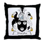 Sharples Family Crest Throw Pillow
