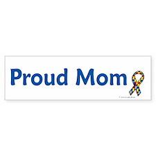 Proud Mom (Autism) Bumper Car Car Sticker