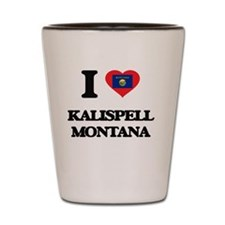 I love Kalispell Montana Shot Glass