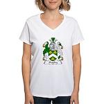 Shapley Family Crest Women's V-Neck T-Shirt