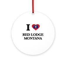 I love Red Lodge Montana Ornament (Round)