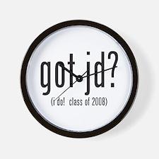 got jd? (i do! class of 2008) Wall Clock