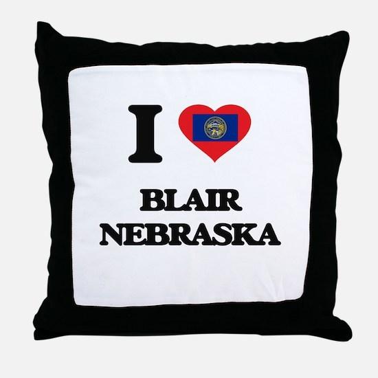 I love Blair Nebraska Throw Pillow