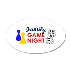 Family Game Night Wall Decal
