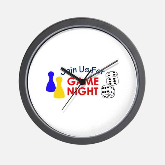 Join Us For Game Night Wall Clock