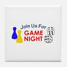 Join Us For Game Night Tile Coaster