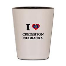 I love Creighton Nebraska Shot Glass